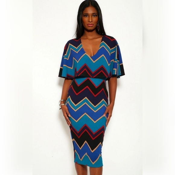 Jcreated Dresses & Skirts - Chevron Print Maxi Dresses